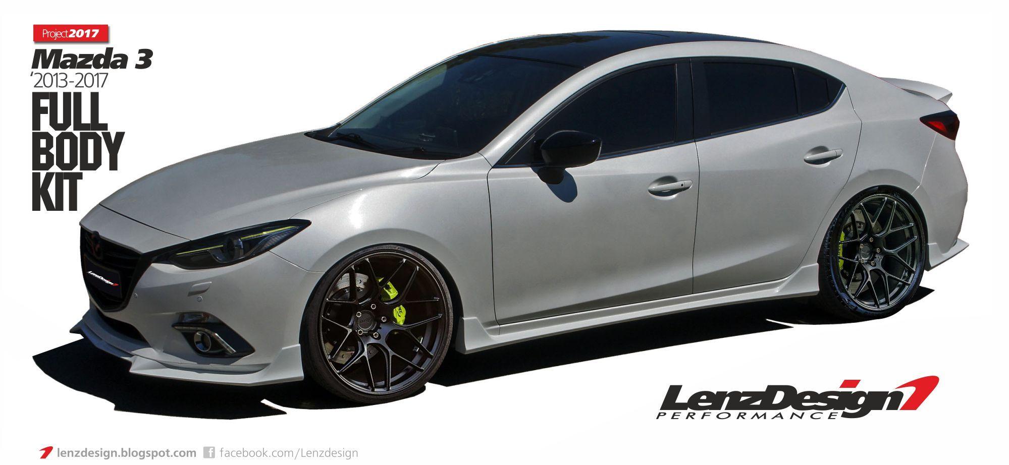 Mazda 3 Bm Axela 2017 2016 Tuning Body Kit Lenzdesign Performance