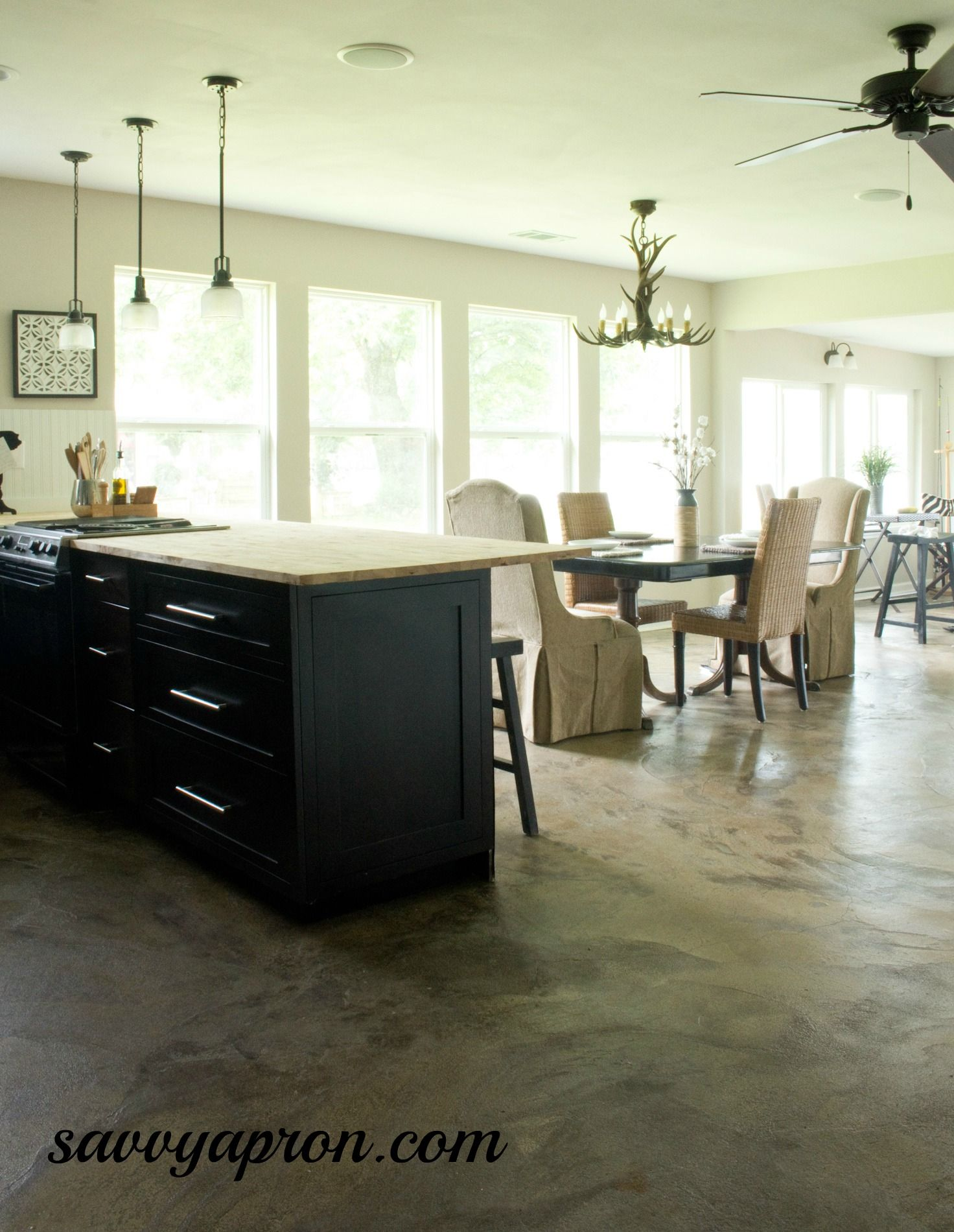 How we stained our concrete floors