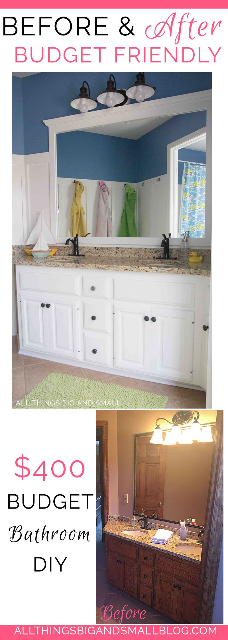 Before-and-After Kids Nautical Bathroom: $400 Renovation | Budgeting ...