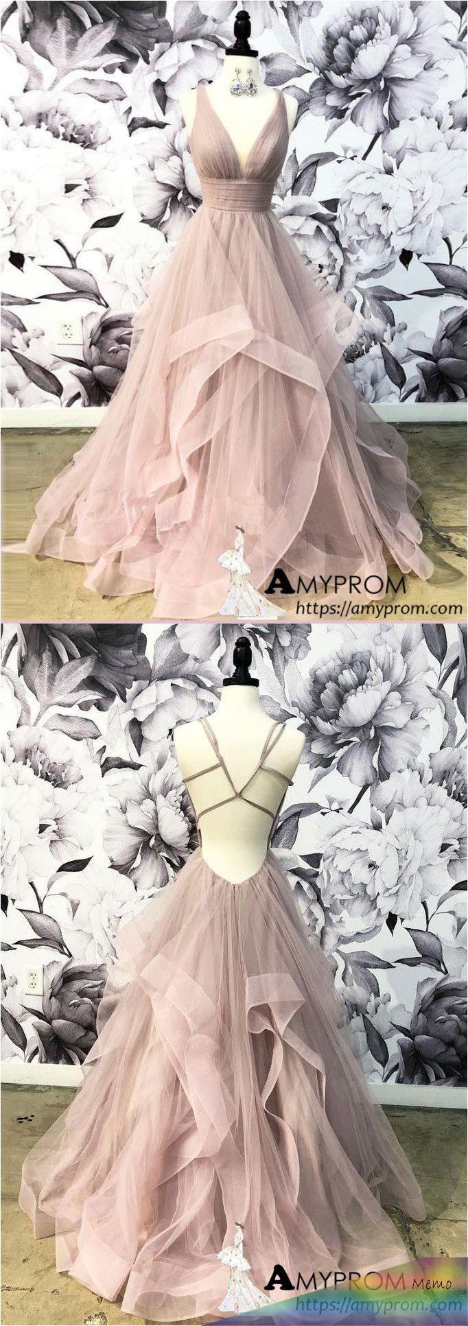 Mar 17, 20179 - Open Back Dusty Pink Long Prom Dress Simple Ball