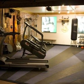 home gym lighting. Modern Manly Home Gym With Awesome Lighting And A Punch Bag From Getitcut.com