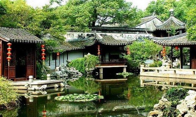 Tongli Old Town (同里古镇, tong li gu zhen) has a history of more - chinesischer garten brucke