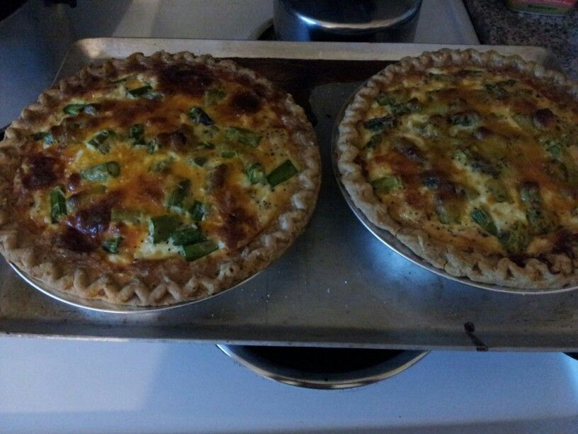 Crab Asparagus Quiche. One for me - one for Michael.
