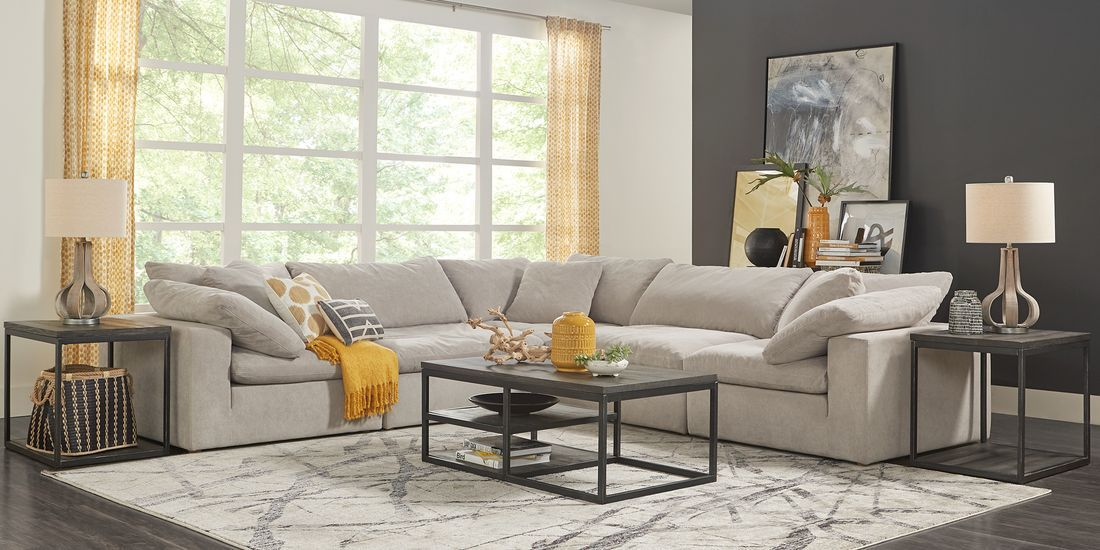 Brendan Gray 5 Pc Sectional Rooms To Go Living Room Sets
