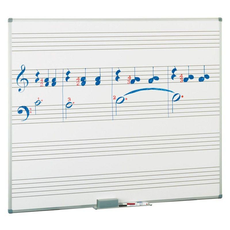 Pizarras blancas musicales con pentagrama estratificada, rotulables ...