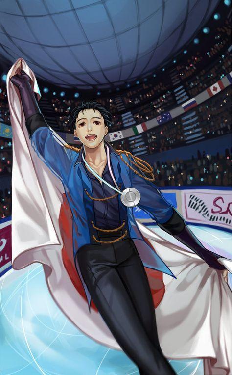 Encontramos geniales fan arts dedicados a Yuri!!! on Ice, la serie que conquistó Japón