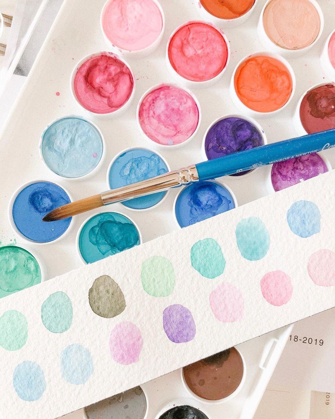 Watercolour Paint Palette By Cecile Lau Calligraphy Watercolour