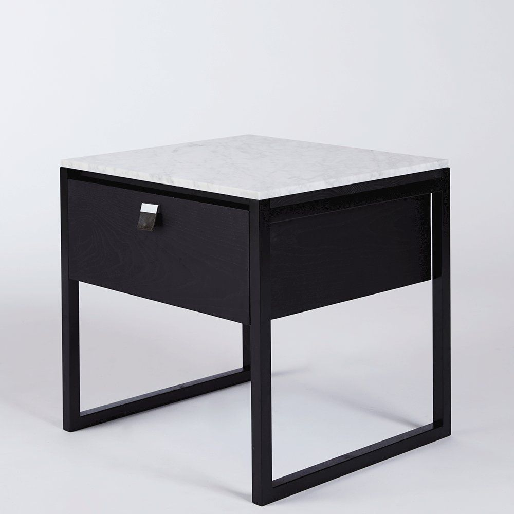 Best Max Italian Carrara Marble Bedside Table Urban Couture 400 x 300