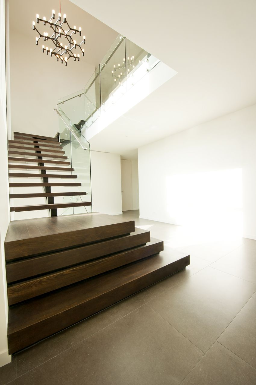 Best Feature Stair American Oak Platform Landings Glass 640 x 480