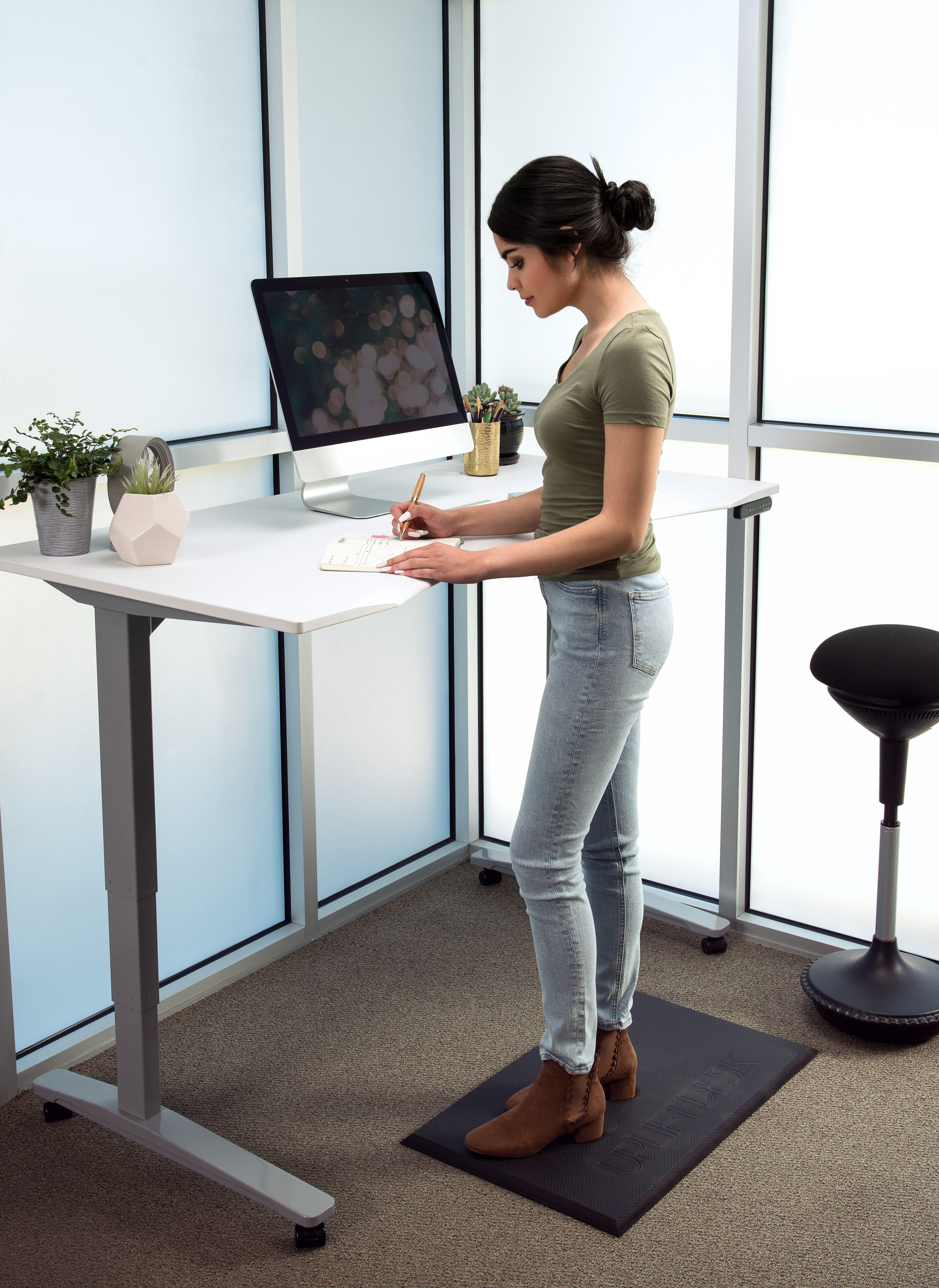 Uplift Ergo Edge Curve Standing Desk V2 V2 Commercial Sit Stand Desk Adjustable Standing Desk Desk