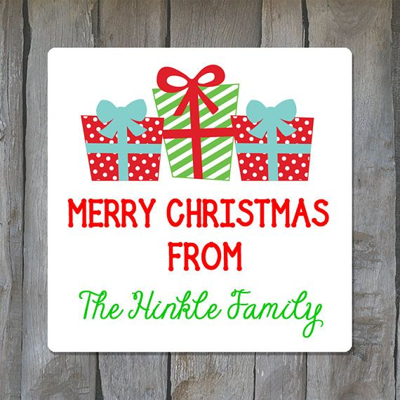 20 Self-Adhesive Personalized Christmas Gift Stickers Labels