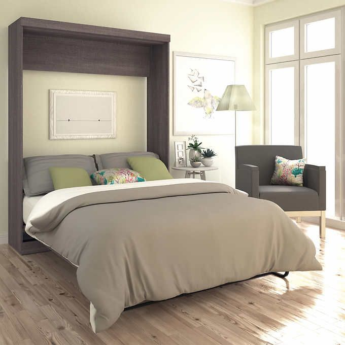 baton rouge queen wall bed grey for sale at costco for on wall beds id=85427