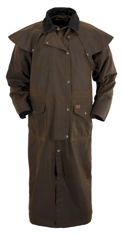 ce9736a8 Outback Trading Co. Stockman Oilskin Duster in 2019 | I want | Coat ...