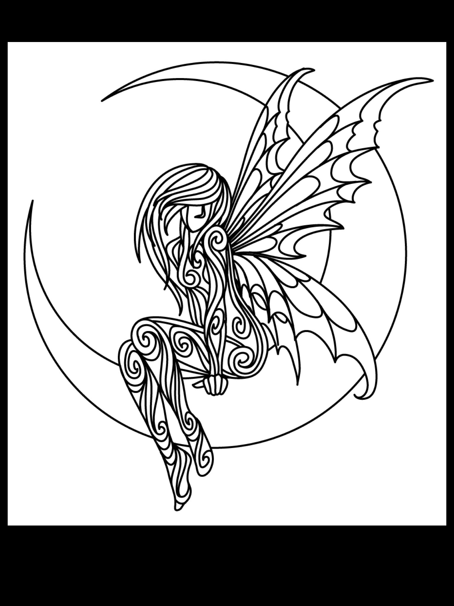 Moonlight fairy Fairy coloring pages, Paper quilling