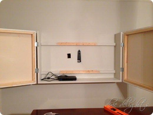 Honey Does: DIY Flat Screen TV Cabinet | Fernseher, Einrichten und ...