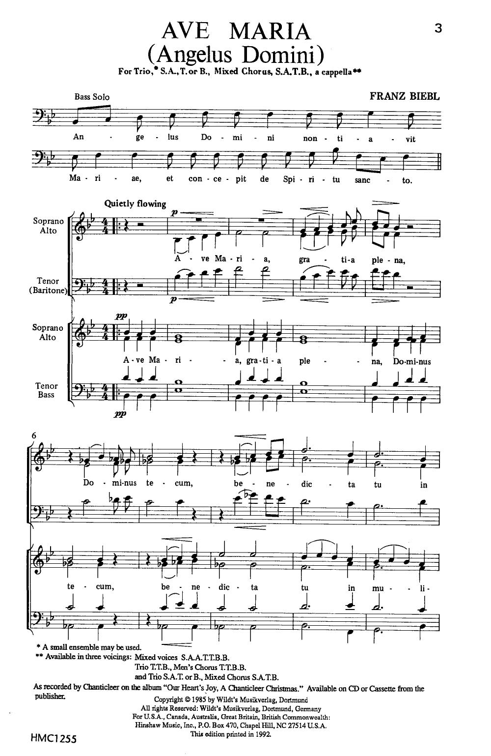 Ave Maria (SATB ) by Franz Biebl| J.W. Pepper Sheet Music | Music ...