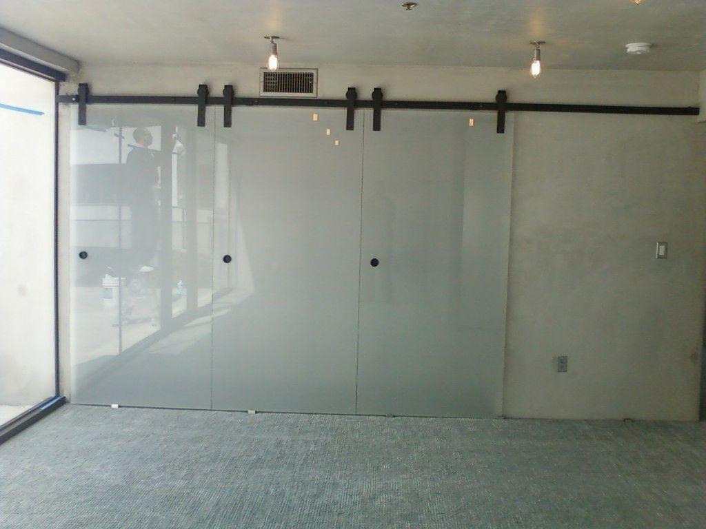 Standard Flat Track On Glass Panels Barndoorhardware Office
