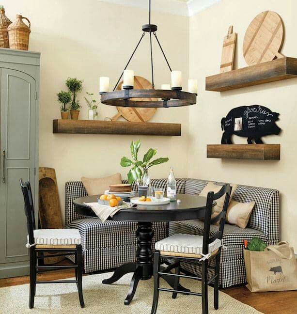 Dining Room Booth: Only Corner Booth I Would Allow In My Kitchen!