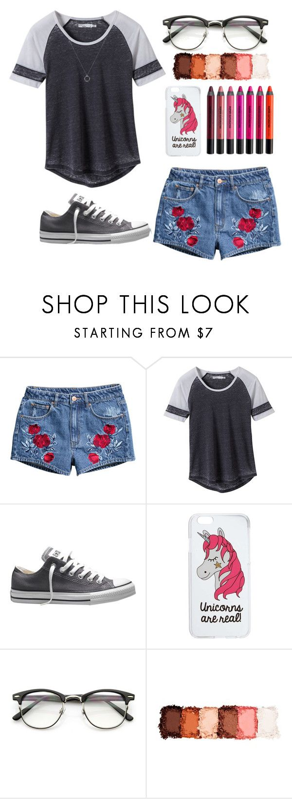 """""""Untitled #365"""" by hogwartshermione ❤ liked on Polyvore featuring H&M, prAna, Converse, Miss Selfridge, NYX and Urban Decay"""
