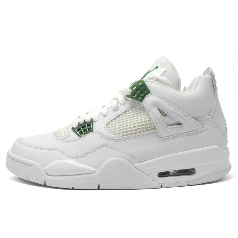 Air Jordan 4 Retro WhiteChromeClassic Green 19000