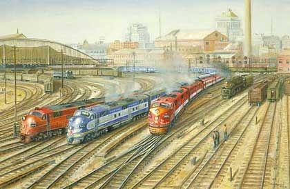 Railroad Print: St. Louis Union Station by John Bromley