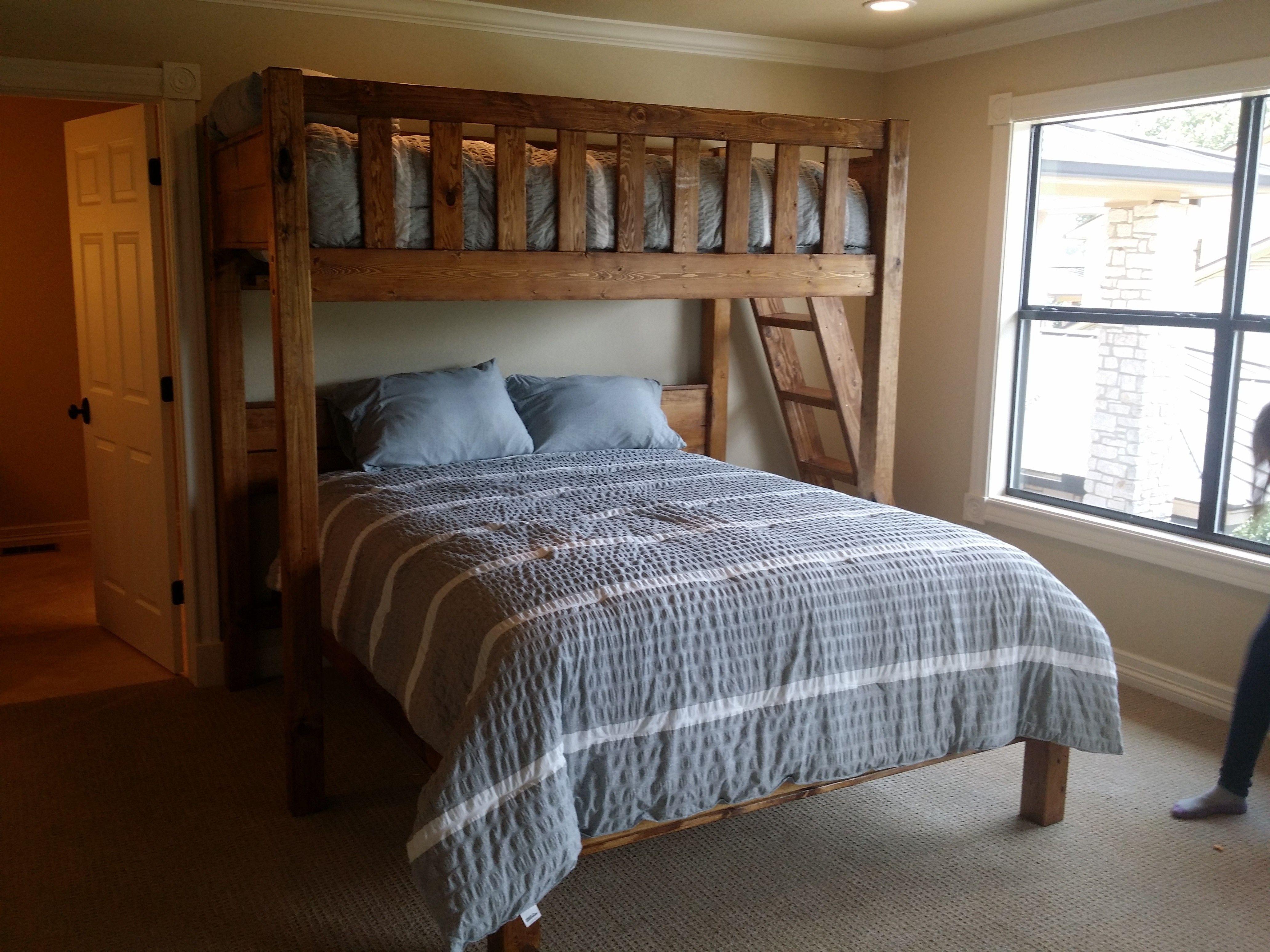 Custom perpendicular queen bunk bed custom bunk beds