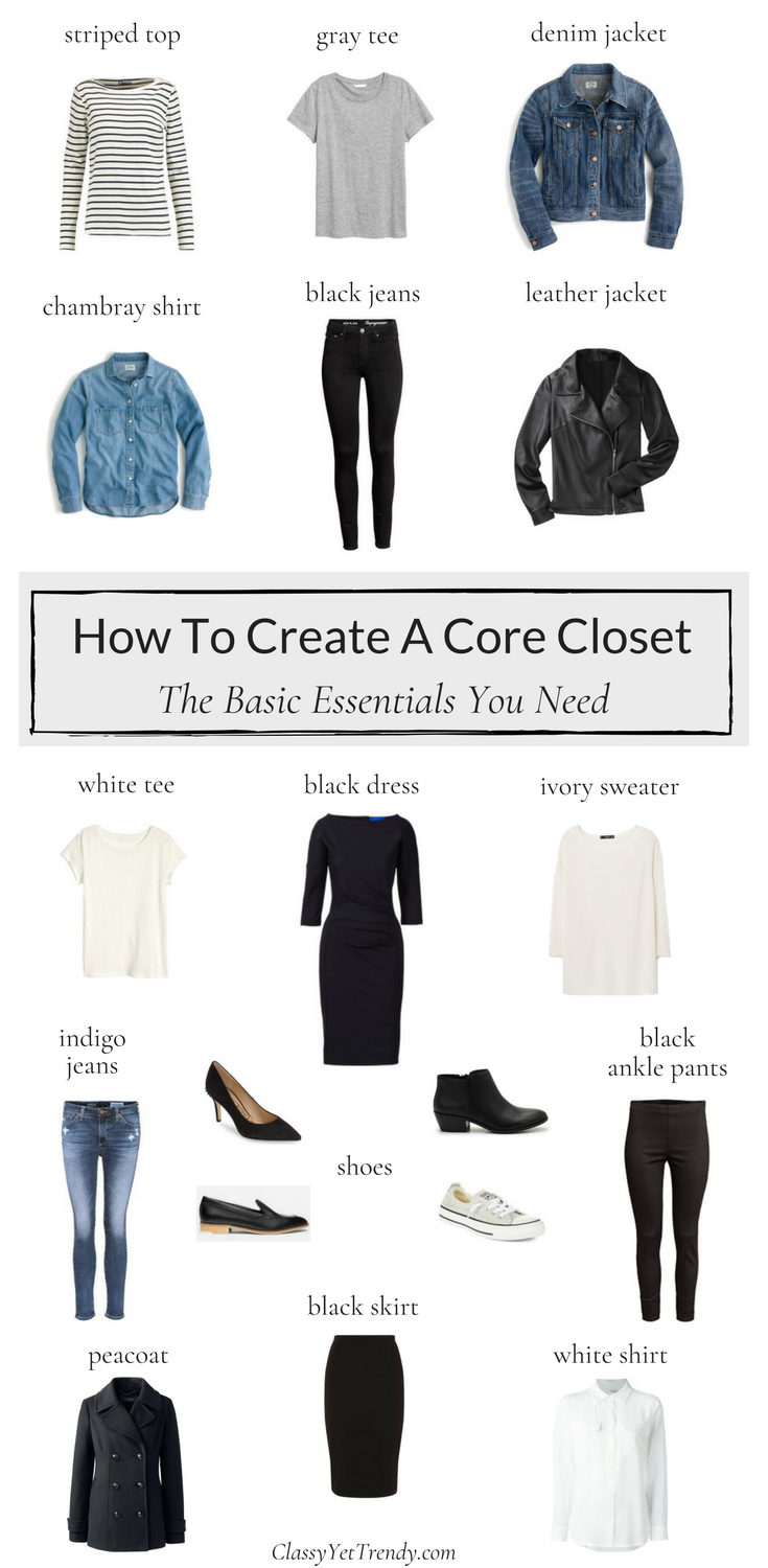 How To Create A Core Closet #howtowear