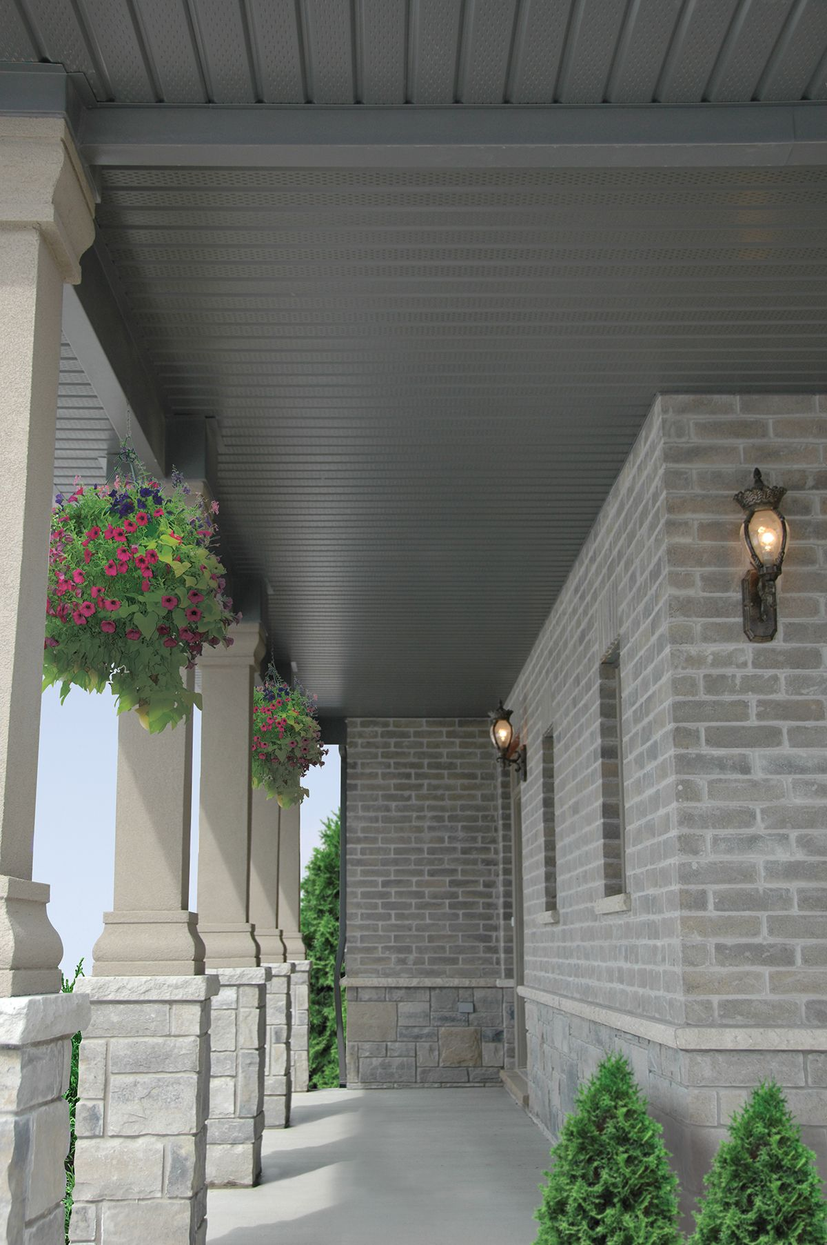 Pin By My Design Home Studio On Soffit Fascia And Eavestrough Exterior House Colors Exterior Brick Craftsman Exterior