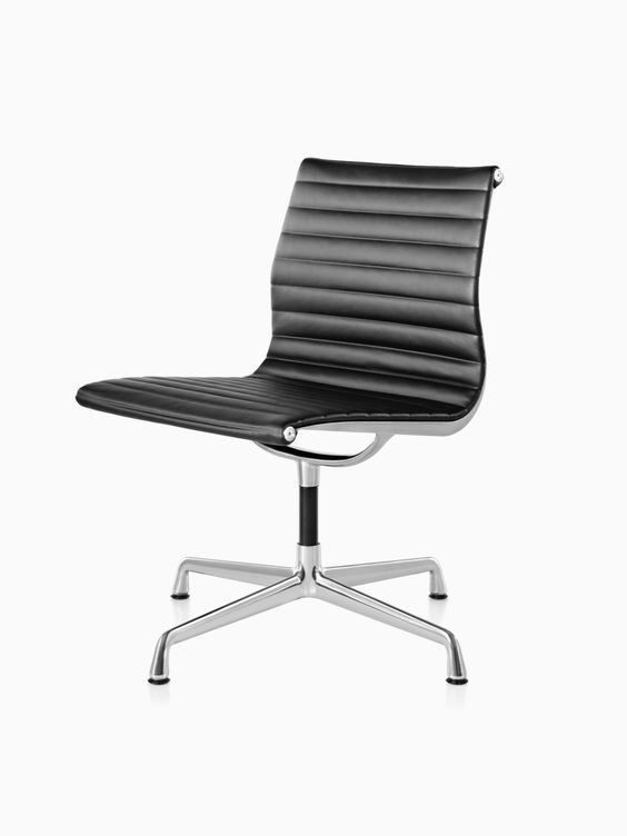 Eames Aluminum Chair Peg Perego High Zero3 Group Side The By Charles And Ray For Herman Miller Has A Low Back Clean