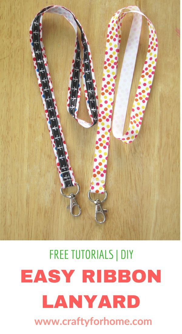 Easy Ribbon Lanyard #craftstosell