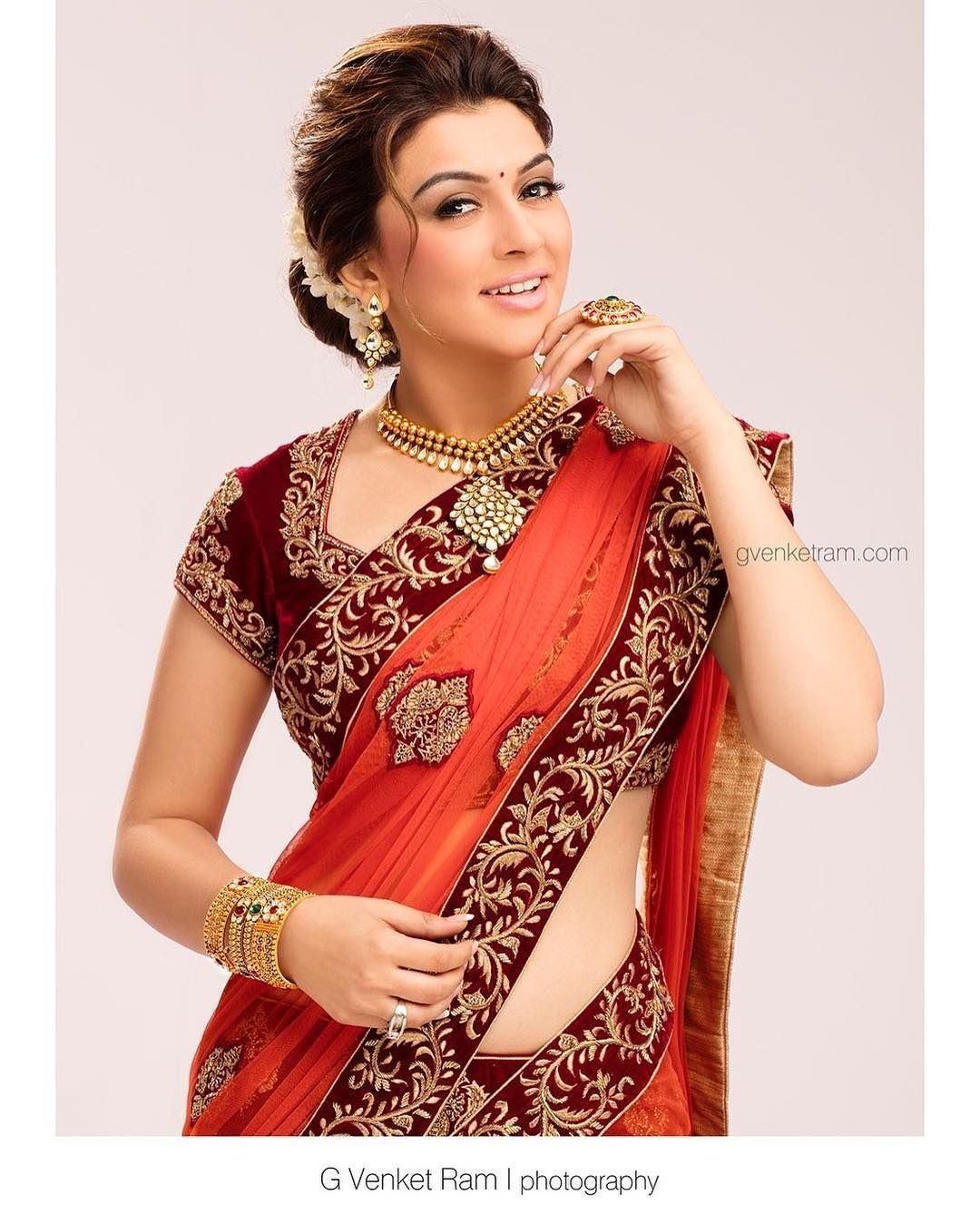 Hansika for Saravana Stores   L E H E N G A   Pinterest