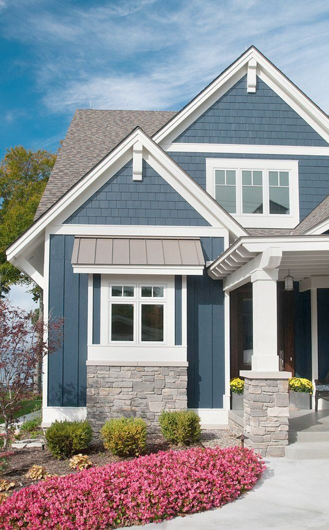Ordinary Outside House Colors Exterior Paint Color Is Bm Hale Navy Exterior Paint Color Bm Hale Cottage Exterior Colors House Exterior Blue Cottage Exterior