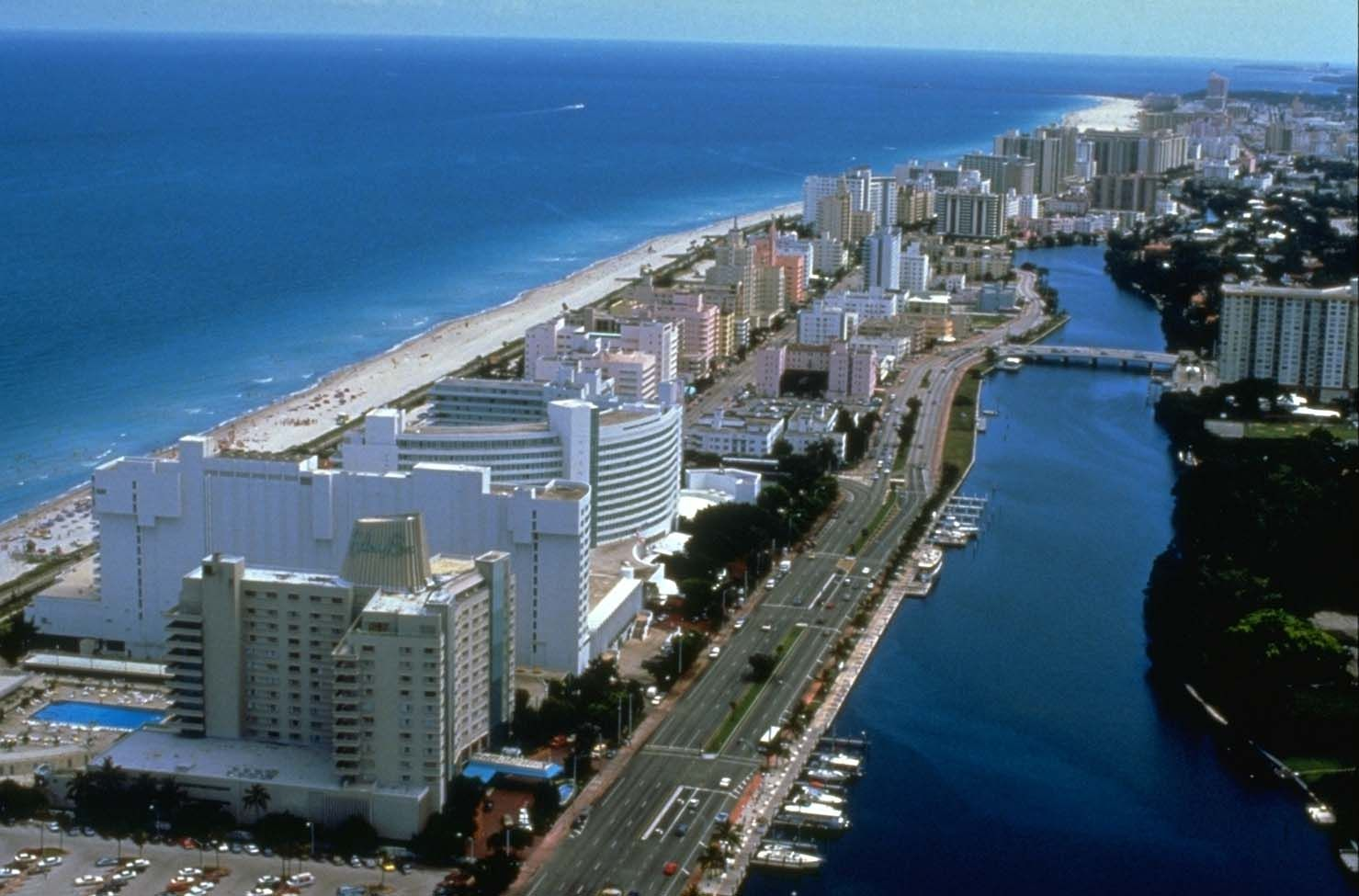 Miami Beach And Intercoastal Waterway