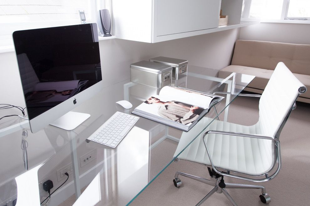 glass desks for home office white glass office desk home office modern with designer
