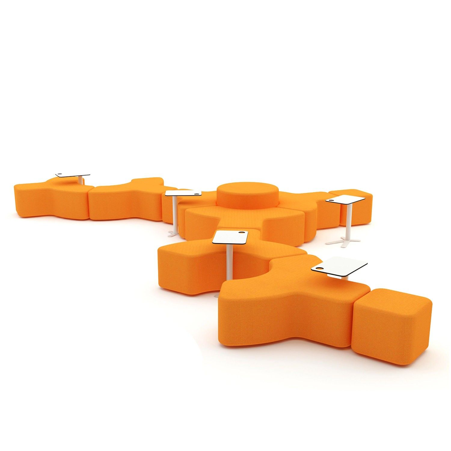 Signs Modular Bench Is A Sectional Soft Seating System For