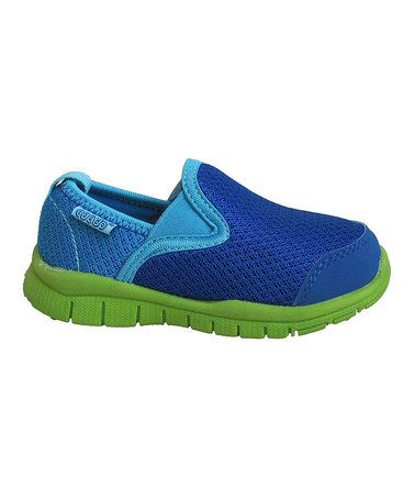 Look what I found on #zulily! Royal Blue & Green Slip-On Sneaker - Kids #zulilyfinds