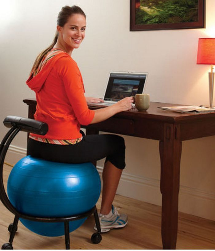 Exercise Ball Chair Balance Gaiam Fitness Office Ergonomic Workout Yoga Gym Gaiam Balance Ball Chair Ball Chair Exercise Ball Chairs
