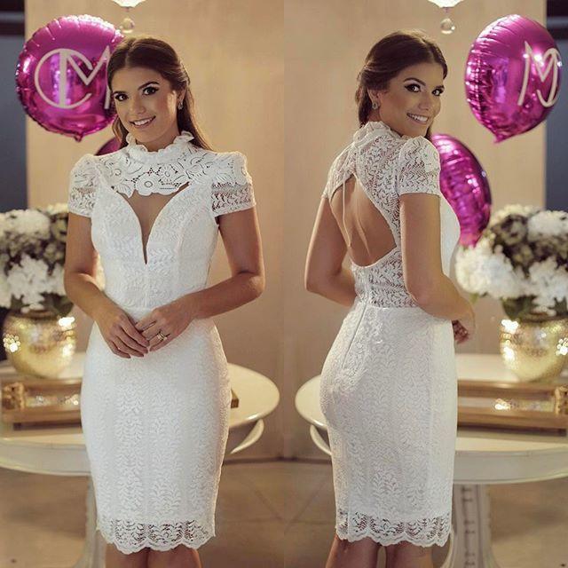 06c8d8b713  White ✨  closetdamay  Vestido de renda