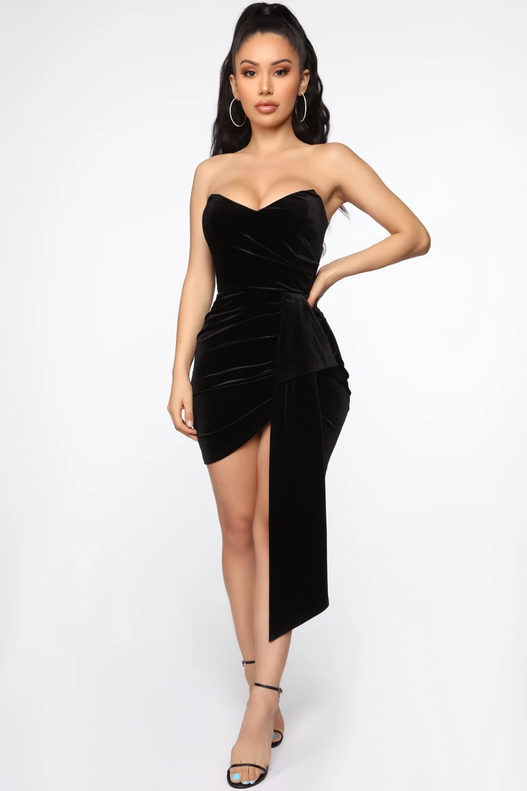 Sweet Revenge Velvet Mini Dress Black By Fashion Nova In 2020 Mini Dress Black Dresses Classy Black Dress Outfits