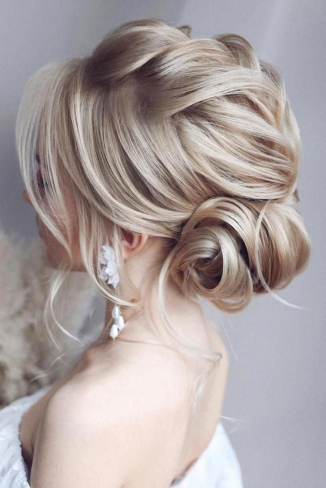 30 Top Wedding Updos For Medium Hair ❤️ wedding updos for medium hair textured low side bun with braid tonyastylist #weddingforward #wedding #bride #weddinghair #weddingupdosformediumhair #sideUpdos #lowsidebuns