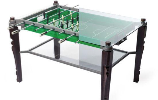 Foosball Dining Table Bachelor Pad Gaming Furniture Foosball