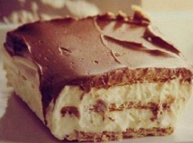 Habos finomság sütés nélkül, vastag csokoládéréteggel!