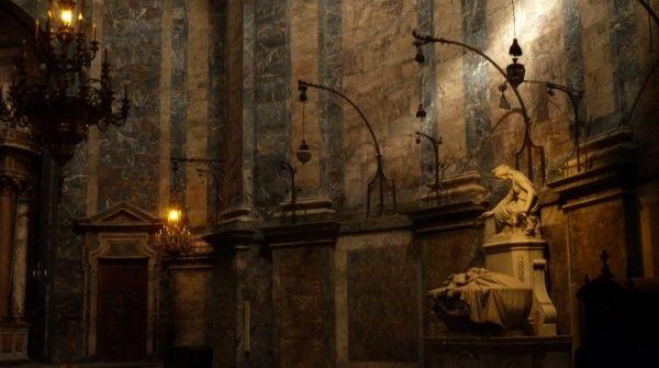 Interior of a church in Girona, Spain