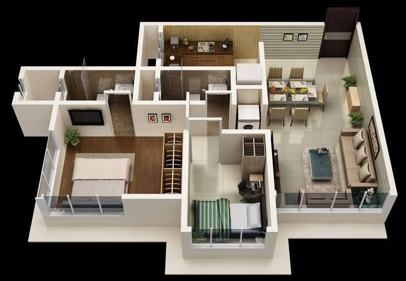 Home Design Plan 10x13m With 2 Bedrooms Home Design With Plansearch Simple House Design Modern House Plans Unique House Design