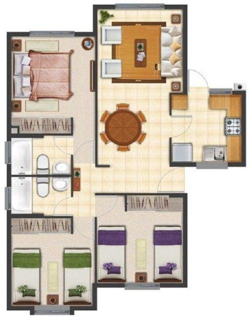 Diseos arquitectnico de casa en terreno de 8 x 20 m