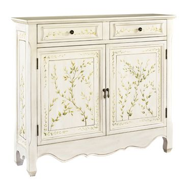 Check out the deal on available by special order!!!  White Hand-painted Cabinet at Hotel Surplus