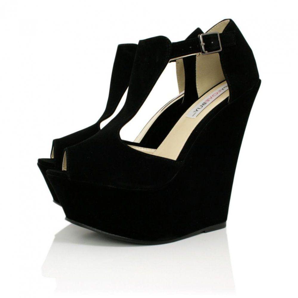 mirada detallada 7cf1a ad148 beautiful! #wedge #shoes | zapatos | Shoes heels, Black ...