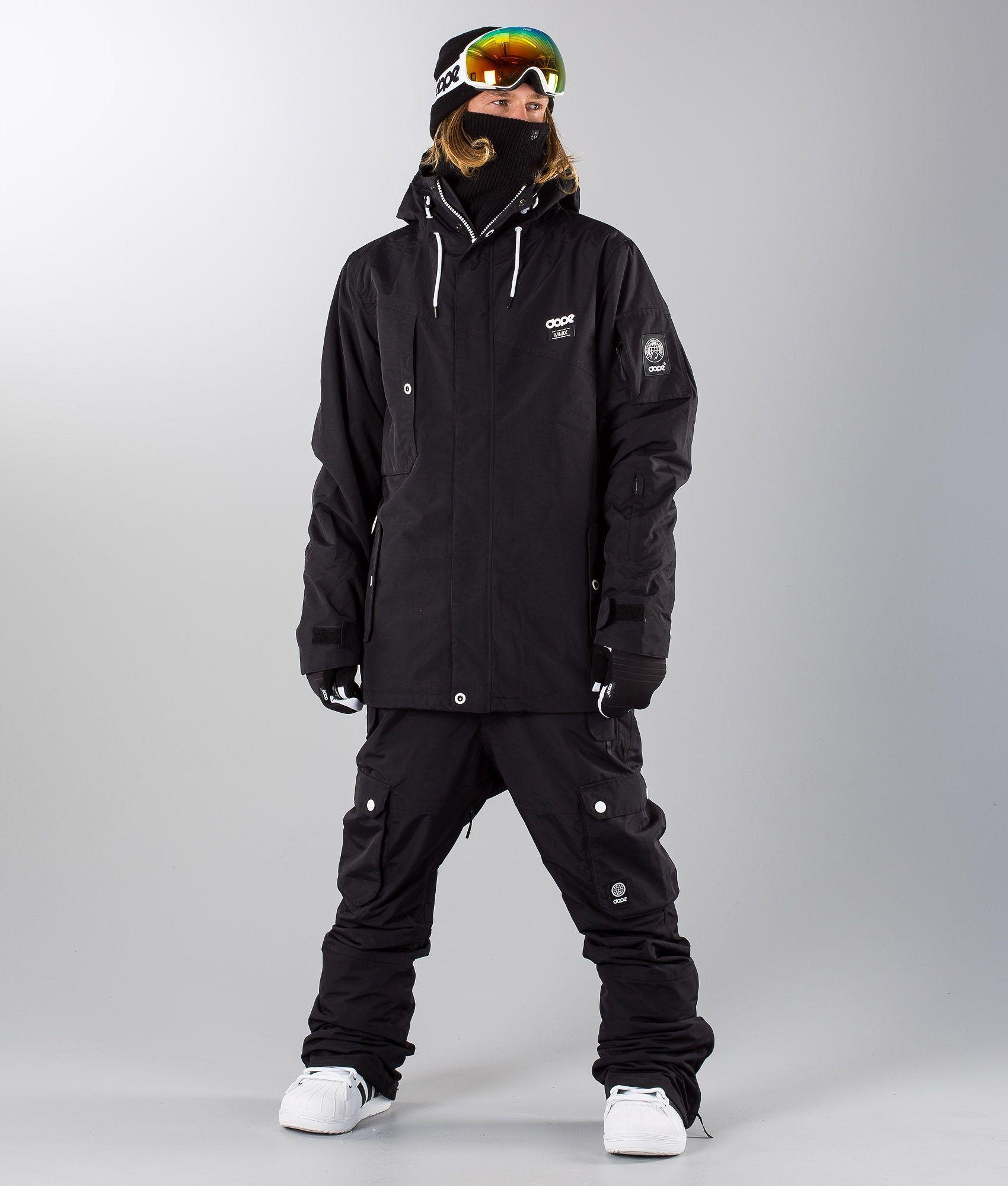 b1affa6d1de7 Dope Adept Snowboard Jacket Black Black
