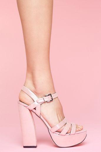 Amber Platform in Pink Metallic Definitely reminiscent of