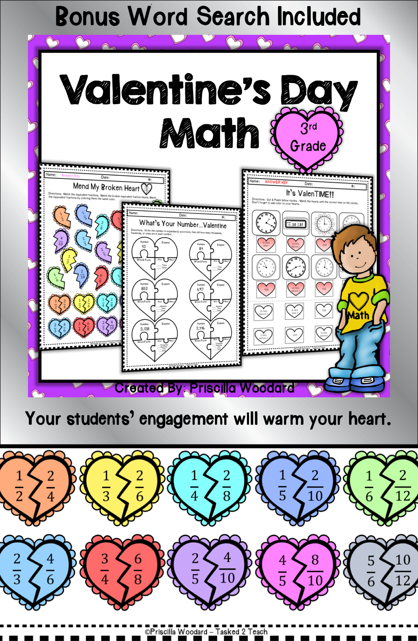 Valentine S Day Math Worksheets Will Keep Your 3rd Grade